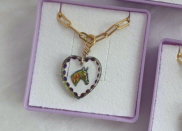 Crystal Pony Necklace