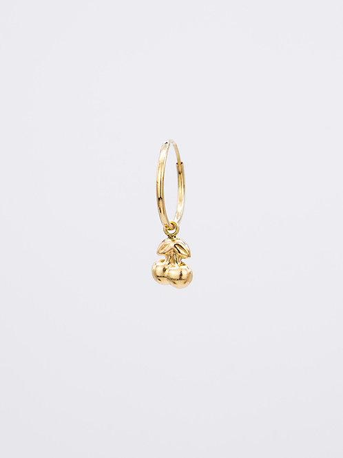 Cherry Hoop 14k Gold