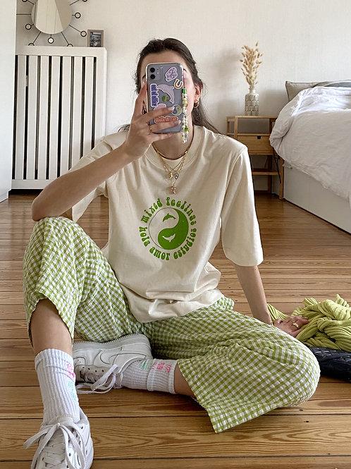 Mixed Feelings Shirt Pistachio Yin Yang Green
