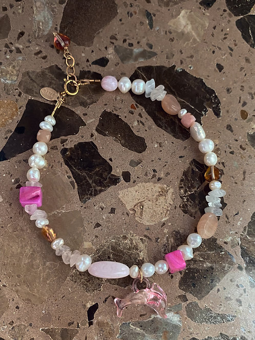 Dolphin Candy Anklet