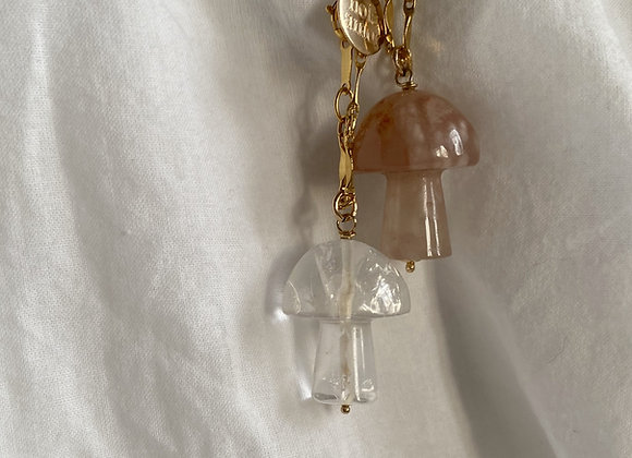 mushroom necklace shroomie trippy psychedelic Pilz edelstein gem gemstone
