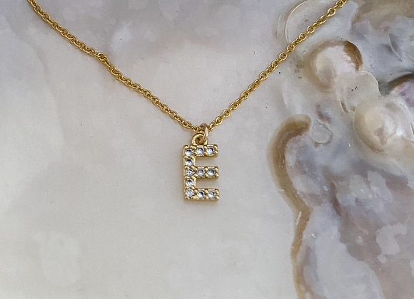 Glitter Initial Necklace