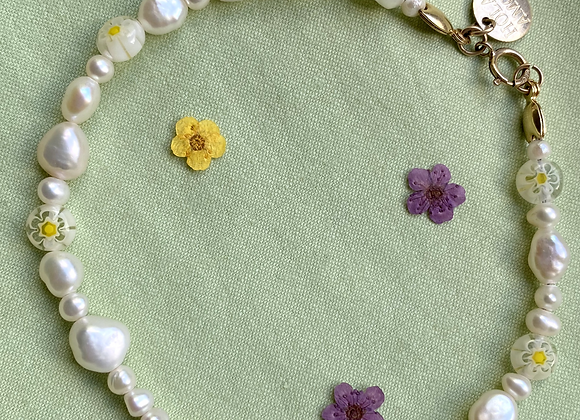 Millefiori Pearl Anklet