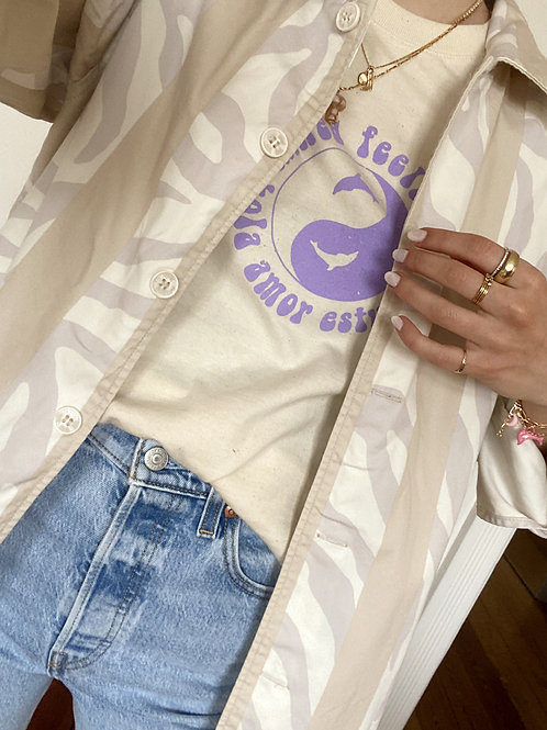 Mixed Feelings Shirt Lavender Yin Yang Purple