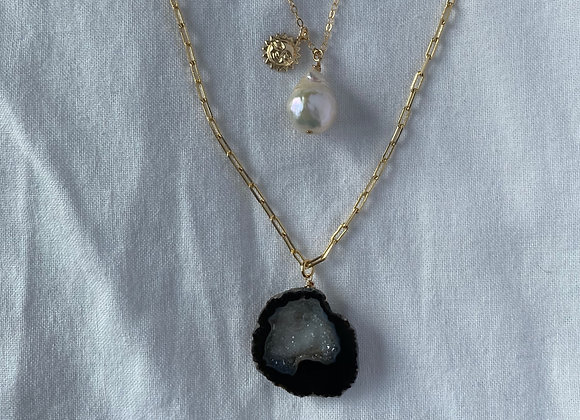 Glitter Gem Necklace - 1 necklace