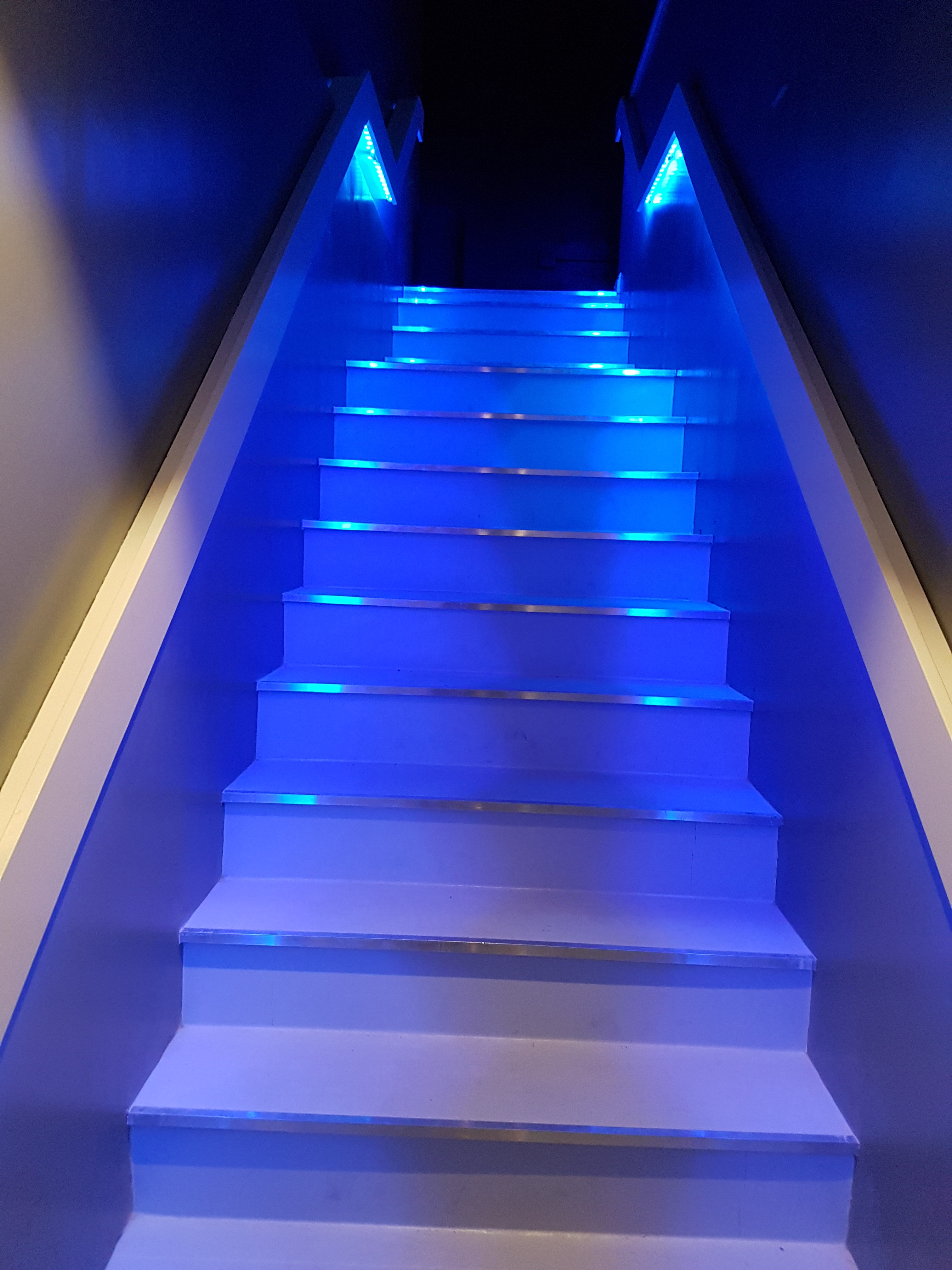 Stairs Blue from Below