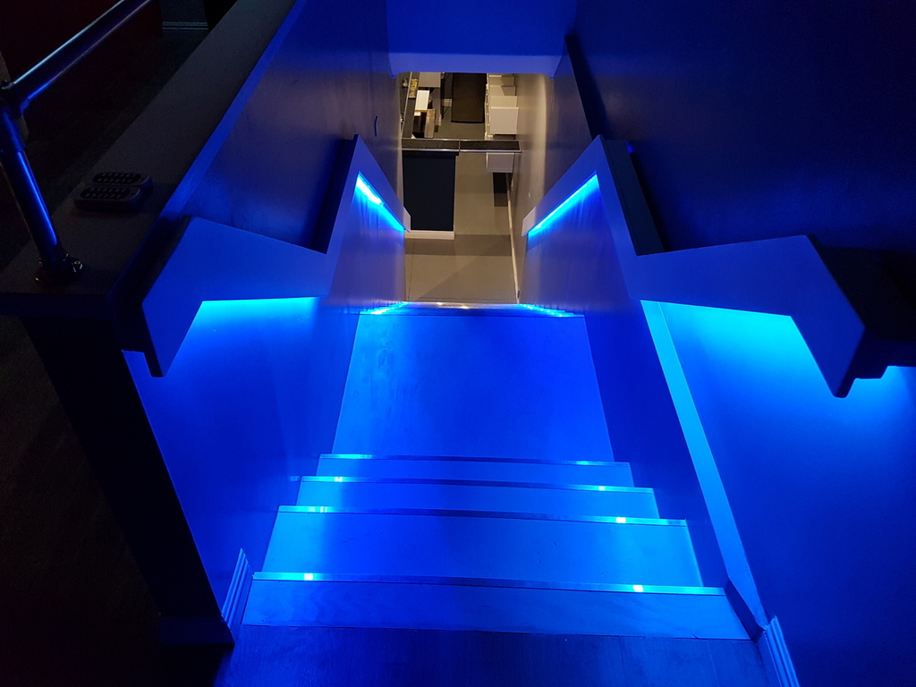 Stairs Blue from Above