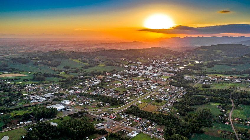 Imagem aérea de Santa Clara do Sul