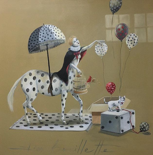 La Charmeuse de Ballons  40'' x 40''.jpg