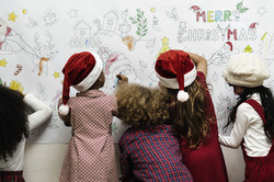 Salle de classe de Noël
