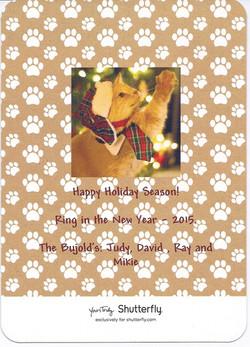 Mikie's christmas card 2014
