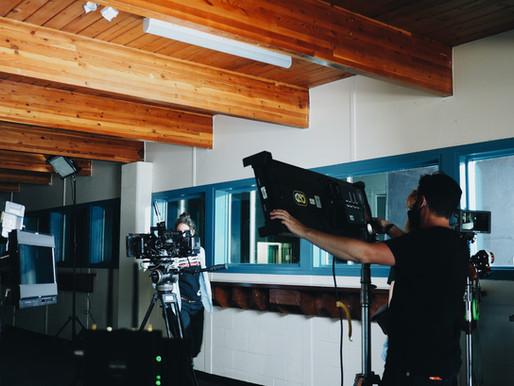 Triwood Arena Transforms Into a Film Set
