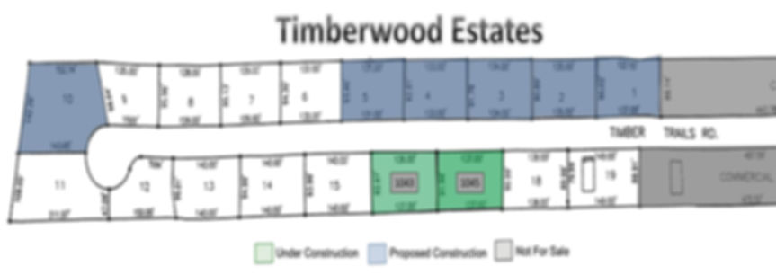 Timberwood Plat updated as of 14Jan2018.