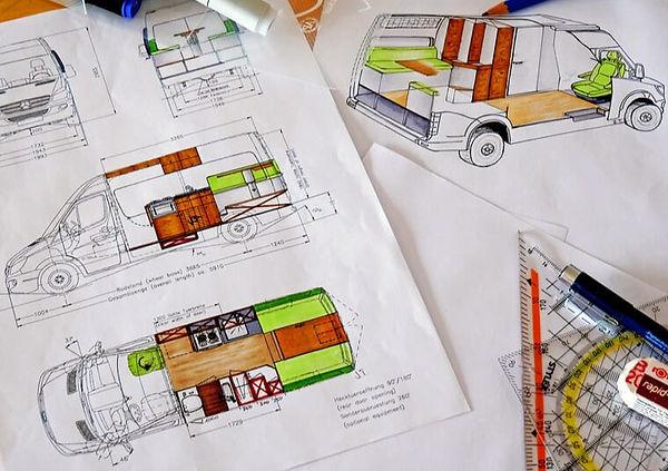 Designing a campervan layout