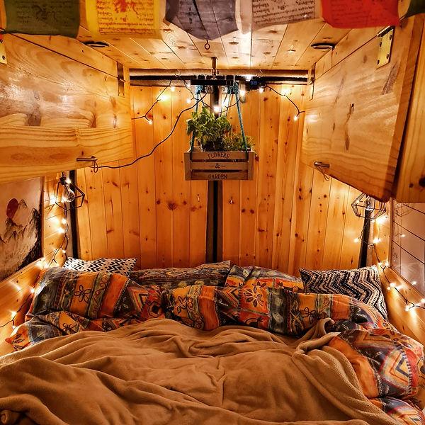 Beautiful campervan bed
