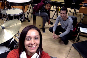 "Rehearsal with ""LAI Trio"""