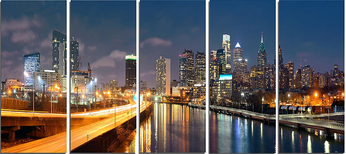 philadelphia-skyline-at-night-5-piece-wa