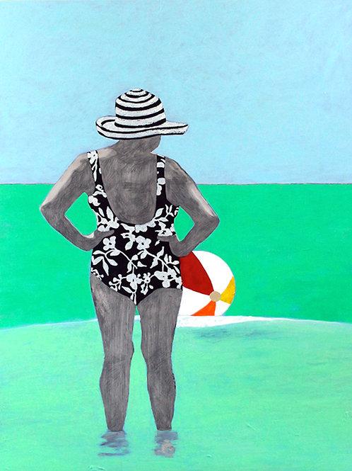 Rockaway beach: Techniques mixtes sur aluminium, 96,52 cm X 127 cm, 2015