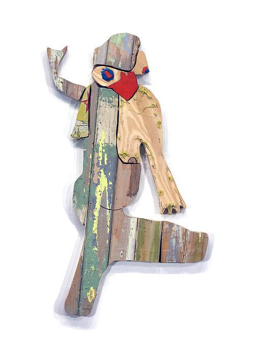 Dancing bird: Techniques mixtes, 43 X 74 cm, 2019