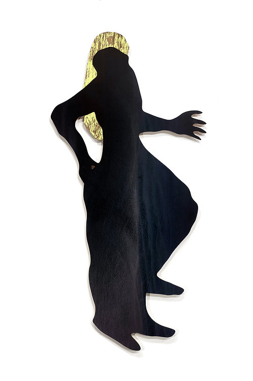 Femme-drap: Techniques mixtes, 82 X 40 cm, 2019