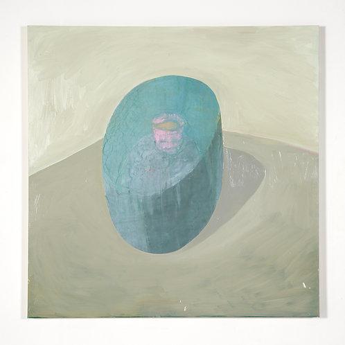 Sceau: Peinture à l'huile sur bois, 121,92 x 121,92 cm, 2017
