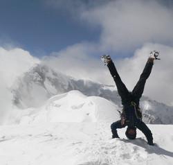 On the summit of Peak Pobeaba in Kazakhstan (6300m)_edited