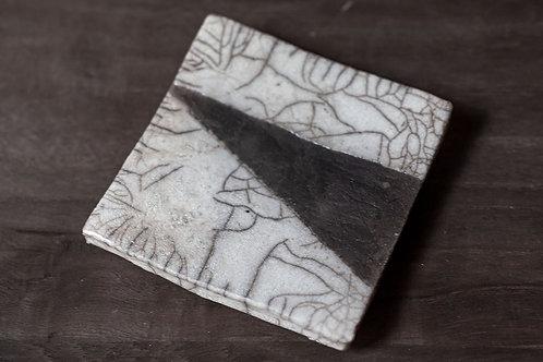 Raku Plate I by Marie-Annick Le Blanc