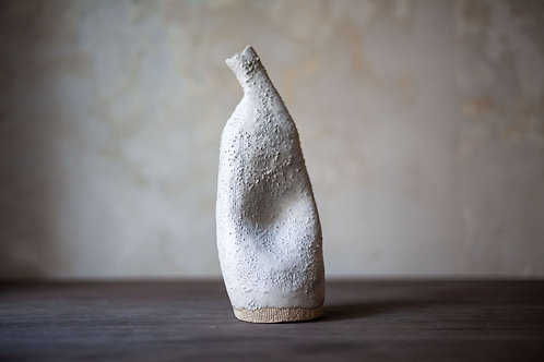 Ceramic Sculptural Object White by Ludmilla Balkis