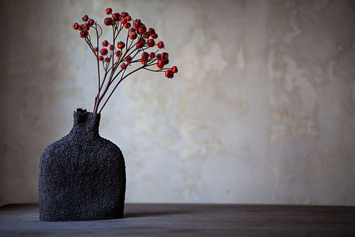 Ceramic Vase/Sculptural Object Black by Ludmilla Balkis