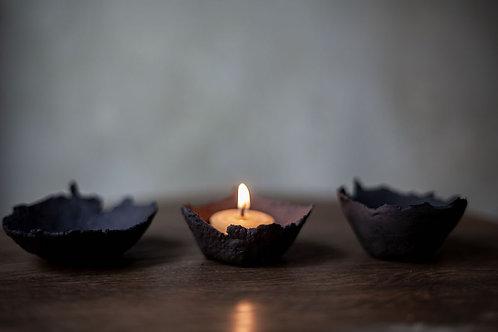 Ceramic Candle Holder IV by atelier RYOKO