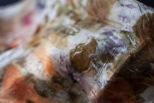 Australian Rust & Eco Natural Dyed Silk Scarf #01