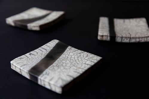 Raku Plate by Marie-Annick Le Blanc