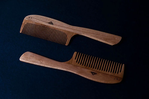 Japanese Tsubaki Hair Comb with Handle