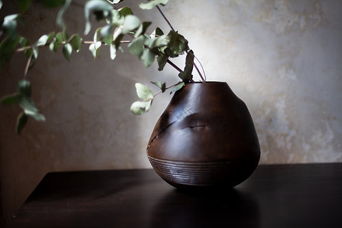 Wooden Object / Vase by Wolfgang Ablasz