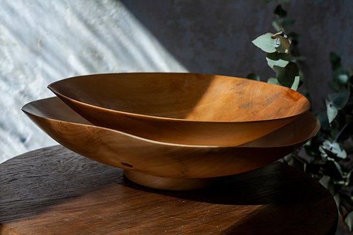 Wooden Large Bowl by Wolfgang Ablasz