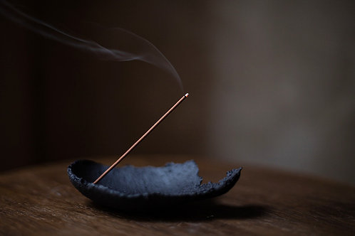 Ceramic Incense Holder/Smudge Burner III. With Hole by atelier RYOKO
