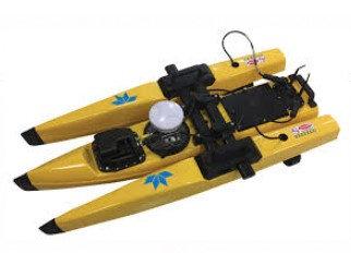 Batimetria  con bote no tripulado en Perú