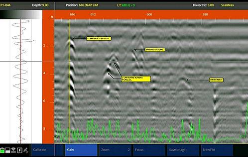 Estudio de Interferencias (Tuberías, Cables Eléctricos) con el Método Georadar