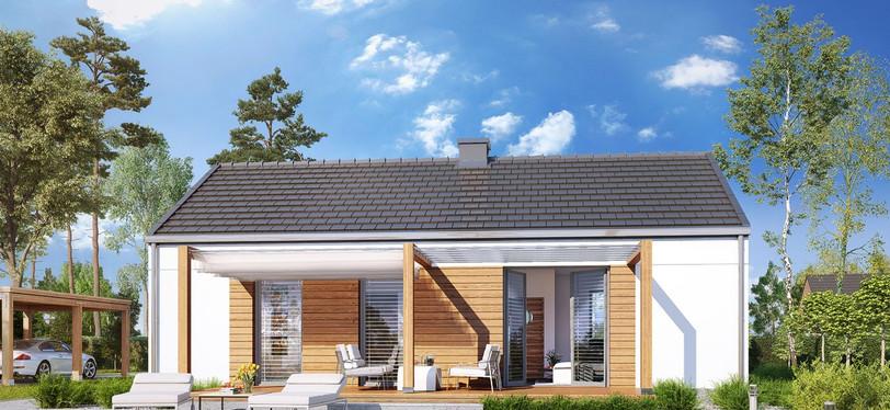 """Проект одноэтажного дома """"Лесная поляна"""""""