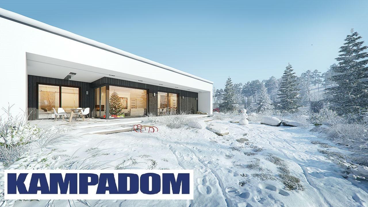 Проект одноэтажного дома 258 кв.м