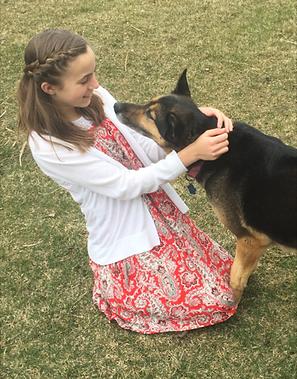 Malia with her dog