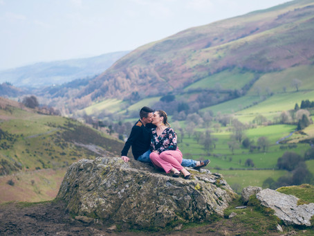Abbie and Leanne enjoy their Engagement Shoot at Pistyll Rhaeadr - One of Wales Highest Waterfalls