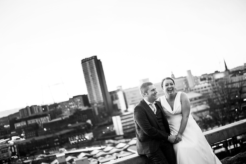 Jess and Dave on a Photo Shoot overlooking Sheffield