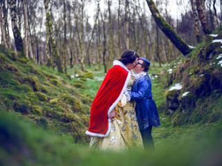 Beauty and the Beast: A Magical Photoshoot in an Enchanted Forrest