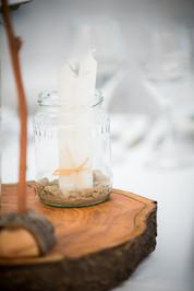 Esküvői asztaldísz fakorong