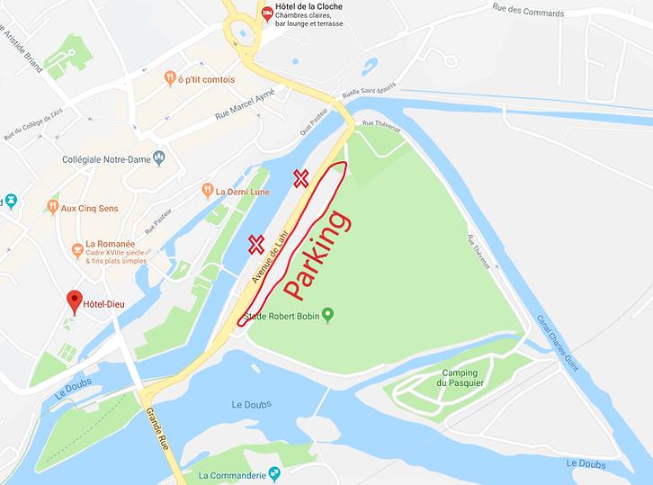 acces parking Xefi triathlon Dole