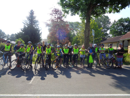 Fahrradprüfungen an der Eiderschule