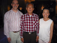 Jeff & Hsiao-Fen with Master Zhang Xue Xin in San Francisco, 2014