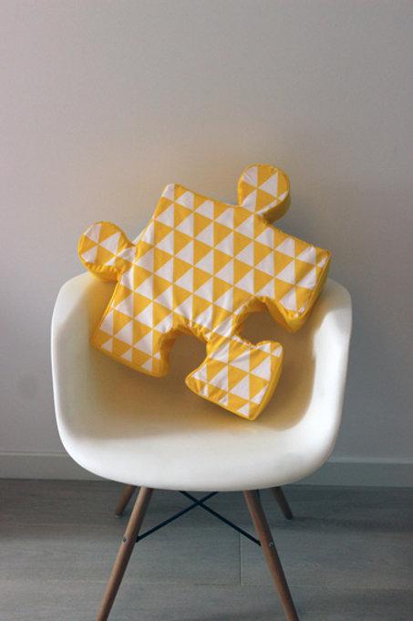 Poduchopuzzle żółty trójkąt