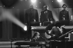 Playing for Stevie Wonder